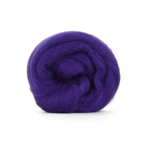 Paradise Fibers Solid Color Blue Faced Leicester Wool Top-Fiber-Paradise Fibers-4oz-Amethyst-Paradise Fibers