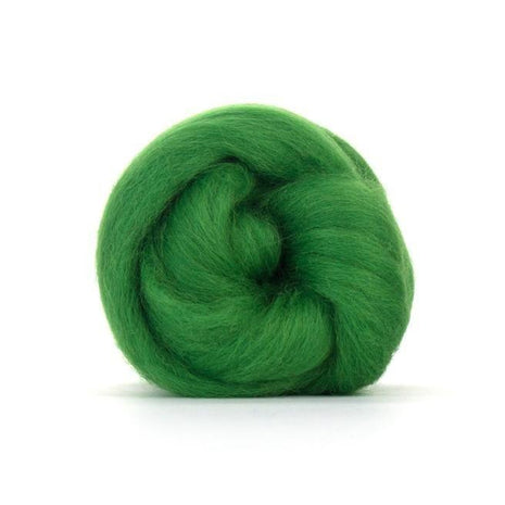 Paradise Fibers Solid Color Blue Faced Leicester Wool Top-Fiber-Paradise Fibers-4oz-Grass-Paradise Fibers