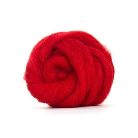 Paradise Fibers Solid Color Blue Faced Leicester Wool Top-Fiber-Paradise Fibers-4oz-Scarlet-Paradise Fibers