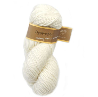 Plymouth DyeForMe Undyed Yarn - Mulberry Merino Superwash-Yarn-Paradise Fibers