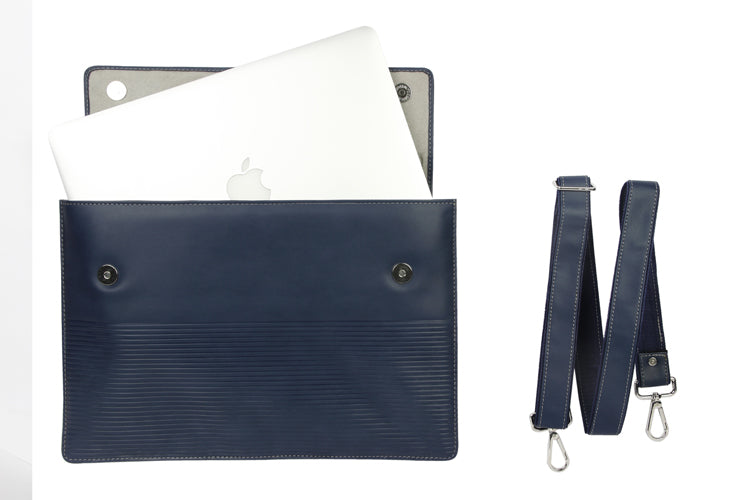 Laptop Sleeves - Stripe Emboss - Royal Blue 15""