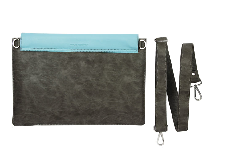 Laptop Sleeves - Zigzag Emboss - Grey and Light Blue 13""