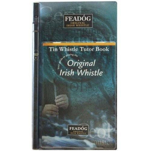 Feadóg Black Pro D Whistle with Tutor Book - 1to1 Music