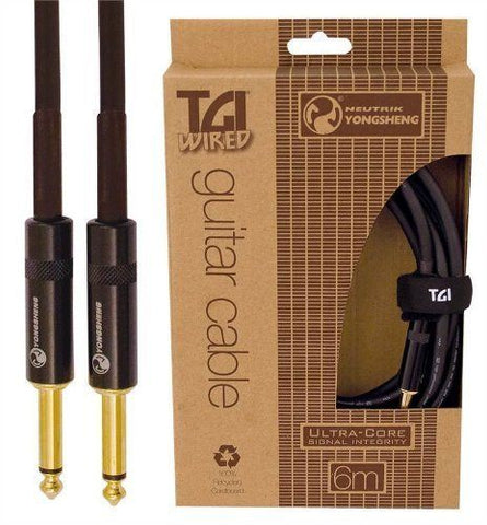 TGI TG320 6 m Guitar Cable with Ultracore and Neutrik Jacks - 1to1 Music