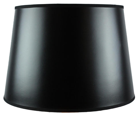 0-000733>13x16x11 Black Parchment Gold-Lined Floor Lampshade