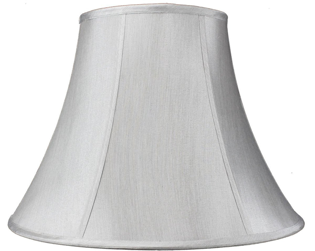 0-000281>9x18x13.5 Gray Bell Shantung Lamp Shade