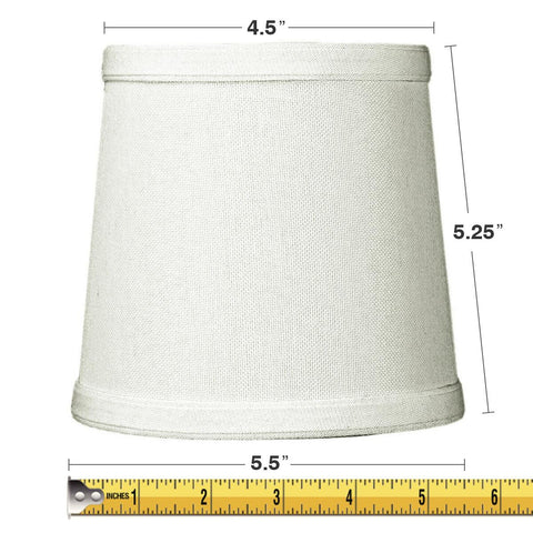 0-000353>5x6x5 Light Oatmeal Linen Drum Chandelier Clip-On Lampshade