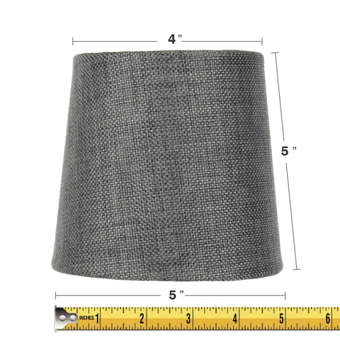 0-000422>4.5x 5.5x 5.25 Granite Gray Burlap Drum Shade