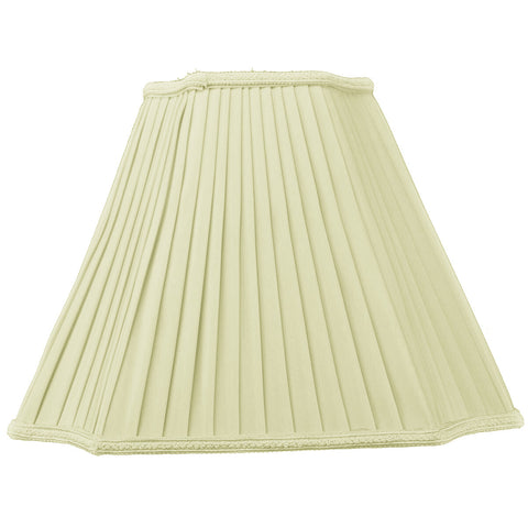 0-000387>7x15x11 Eggshell with Off White Liner Lampshade
