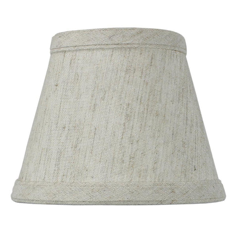 0-002002>Textured Oatmeal Clip-on Candlelabra Shade
