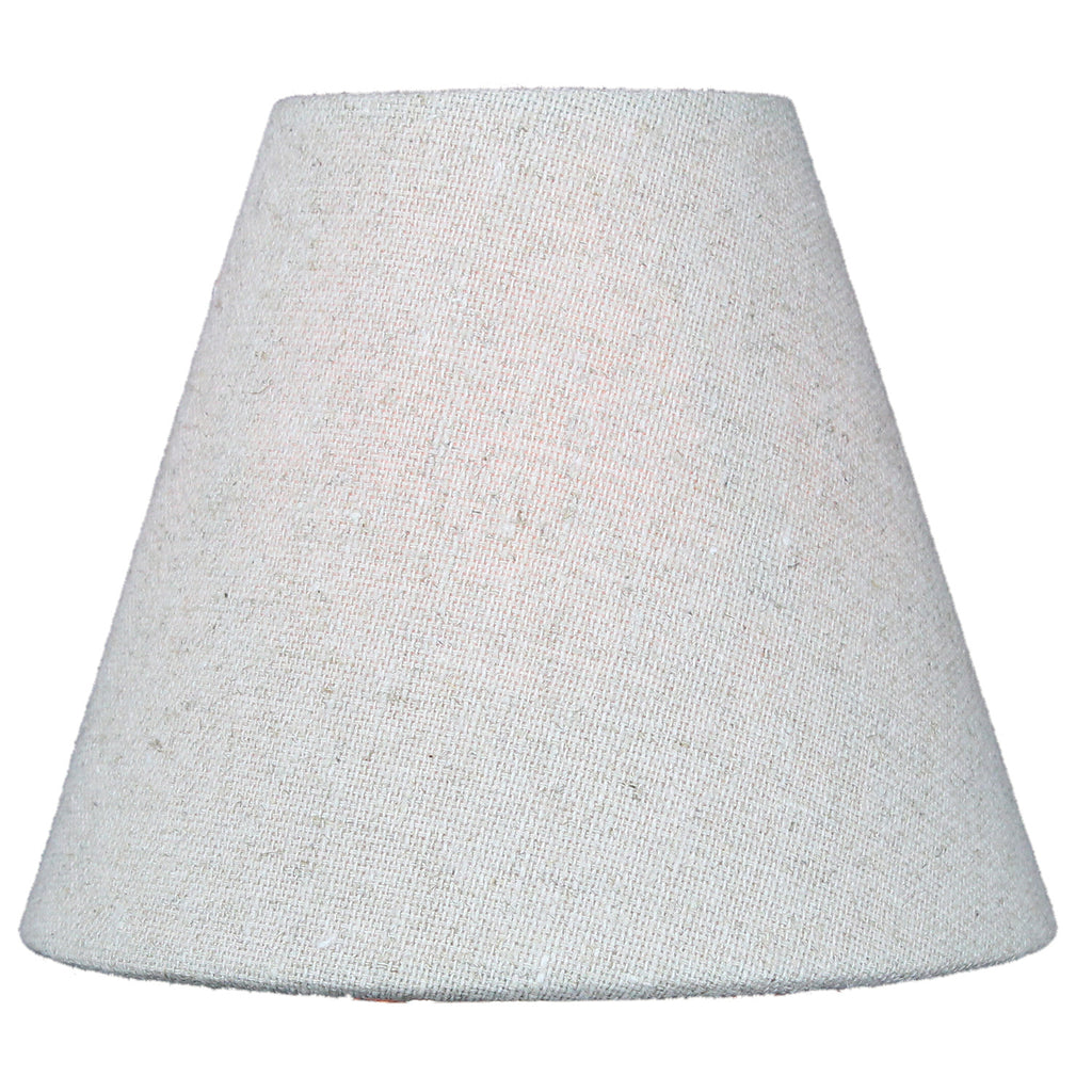 0-001279>Chandelier Sand Linen Clip-On Lampshade 3 x 6 x 5