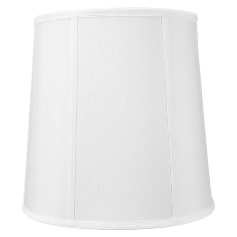 0-000699>10x12x12 White Linen Fabric Drum Lampshade