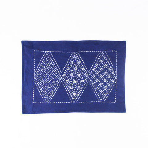 Hand-stitched Cotton Placemat, Argyle