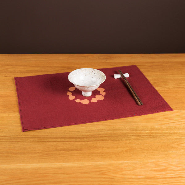 Discharge Print Gourd Pattern Placemat, Grape