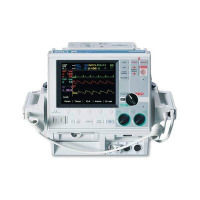 Zoll M Series CCT, 3 Lead, Biphasic, Pacing, Spo2, NIBP, IBP, Temp, AED