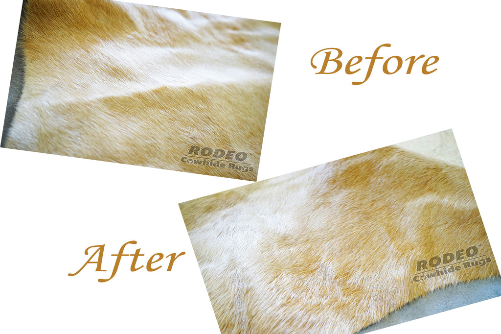 How to remove creases from your Cowhide Rug