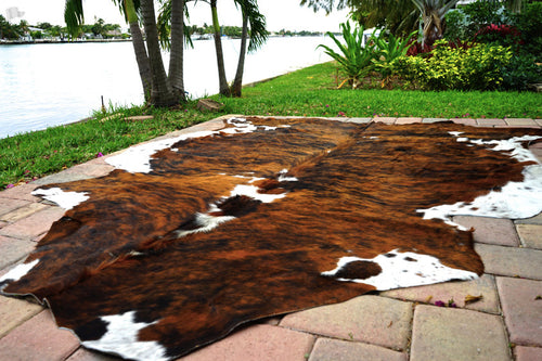 Brown Brindle Cowhide Rug - Rodeo Cowhide Rugs