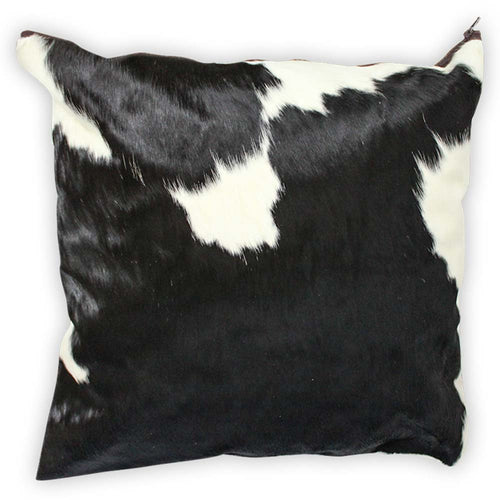 Black and White Traditional Cowhide Large Pillow Case - Rodeo Cowhide Rugs