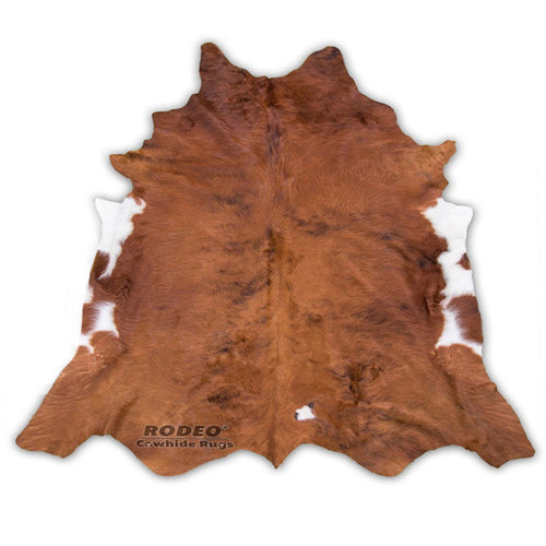 Brown with White Edges Cowhide Rug - Rodeo Cowhide Rugs