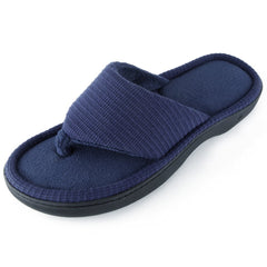 Men's Bamboo Knit Thong Slipper