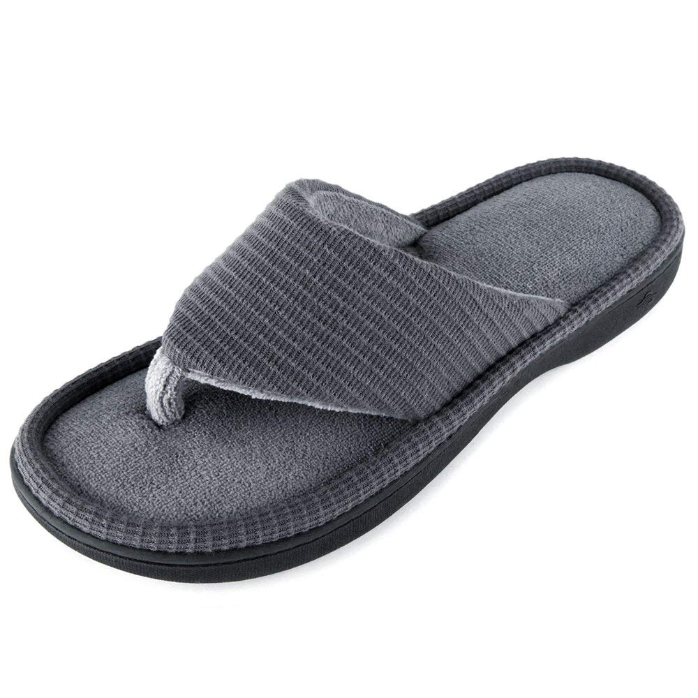 Wishcotton Men's  Slippers Breathable Quick Dry Open-toe Flip Flops