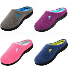 Wishcotton Women's Two Tone Home Cashmere Slipper Memory Foam