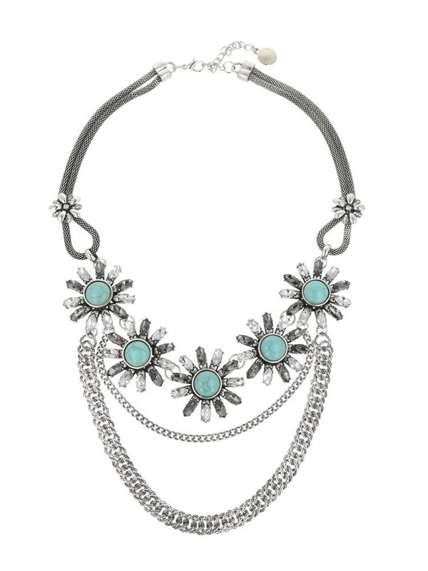 TURQUESA TURQUOISE CHAIN NECKLACE - HOUSE OF MAGUIE