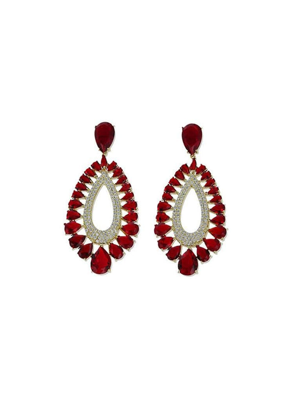 Amalia Rubi Teardrop Earrings - HOUSE OF MAGUIE