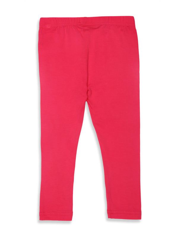 Kids - Girls Ankle Length Leggings Fuchsia