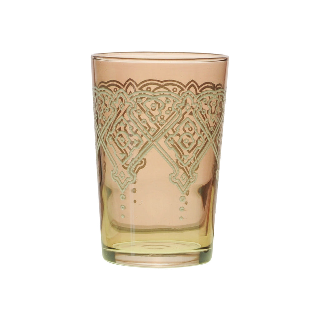 Tea glass Punto Relief, Amber