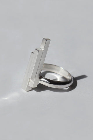Shop Emerging Brands Draug Jewellery X MLTV Silver M_A2 Ring at Eerbus