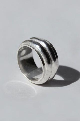 Shop Emerging Brands Draug Jewellery X MLTV Silver M_D1 Ring at Erebus