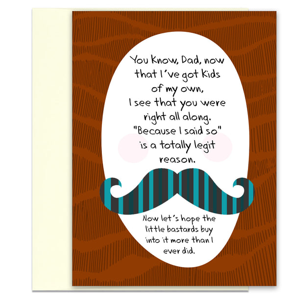 Because I Said So - Funny Anytime Card for Dad - KatMariacaStudio