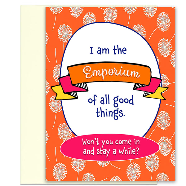 Emporium of All Good Things - Sexy Greeting Card