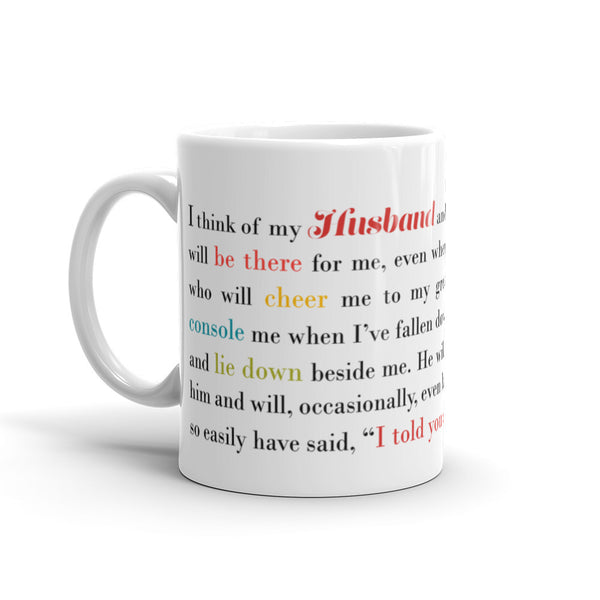 I Think of My Husband - 11 oz  or 15 oz Coffee Mug - KatMariacaStudio - 1