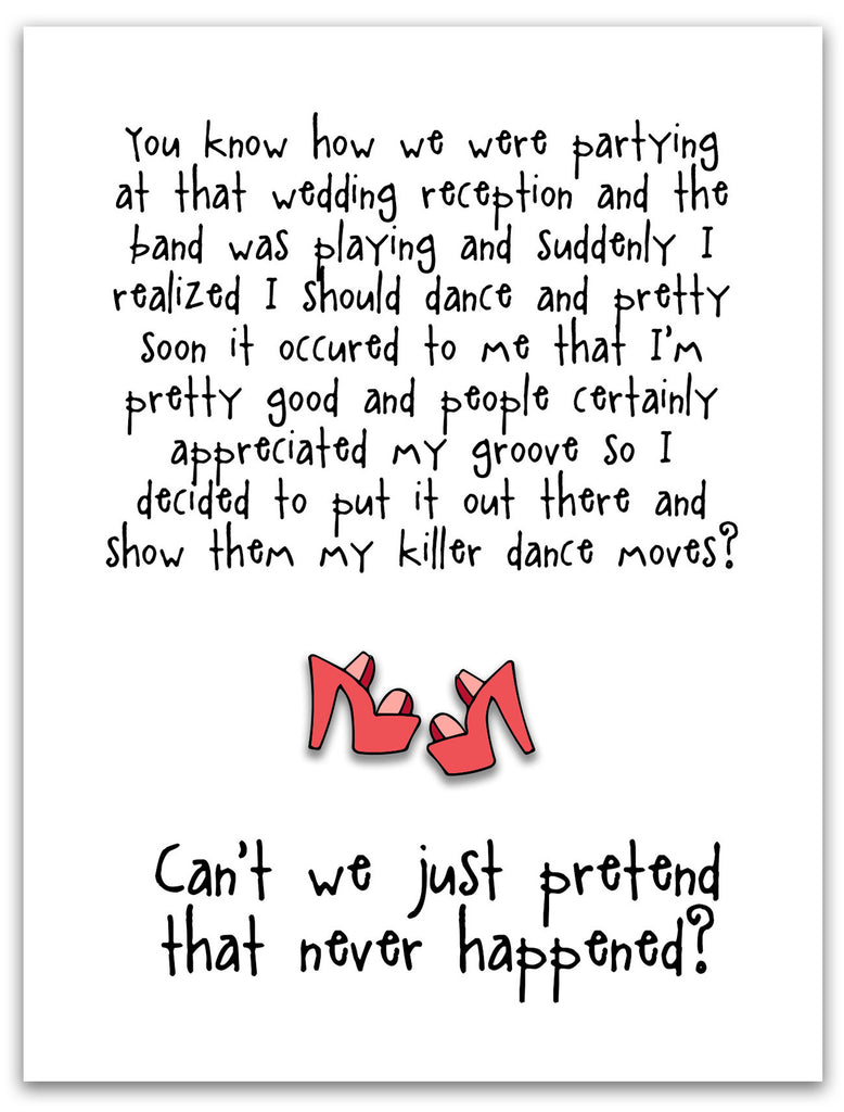 Funny Wedding Card - Killer Dance Moves - from Kat Mariaca Studio - KatMariacaStudio - 3