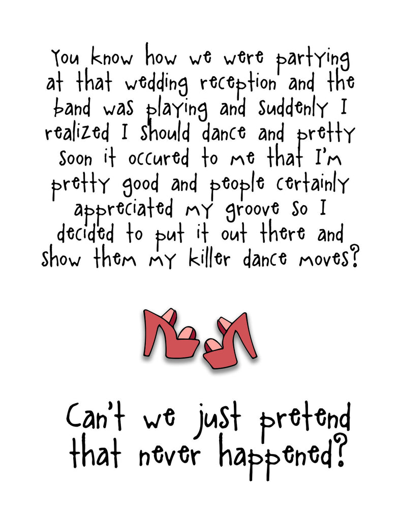 Funny Wedding Card - Killer Dance Moves - from Kat Mariaca Studio - KatMariacaStudio - 4