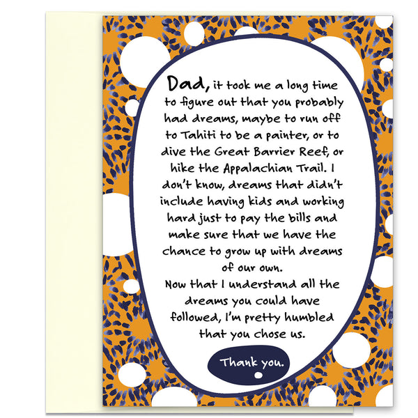 Thank You, Dad - a Thank You Card for Father