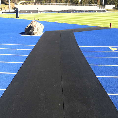 Rollout Rubber Track Crossing Mat
