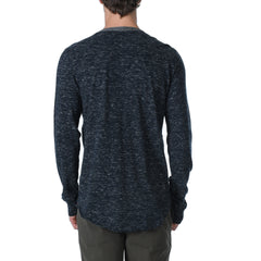 Todd Slub Jersey Henley - Dunmore Navy Heather-Grayers