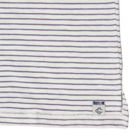Malaga Cove Stripe Polo - Antique White-Grayers