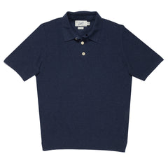 Westport Tuck Stitch Sweater Polo - Navy Heather-Grayers