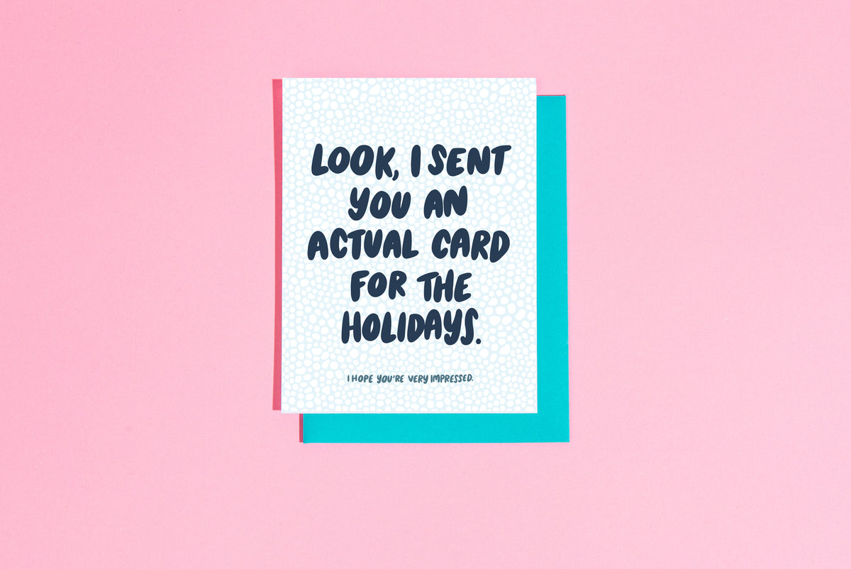 Actual card for the holidays card - Craft Boner