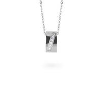 rectangle pendant necklace stones T318P001AR MIAJWL