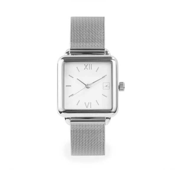 stainless steel square watch women W119M03AR MIA Jewelry