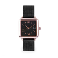 black stainless steel square watch women W119M03NORO MIA Jewelry