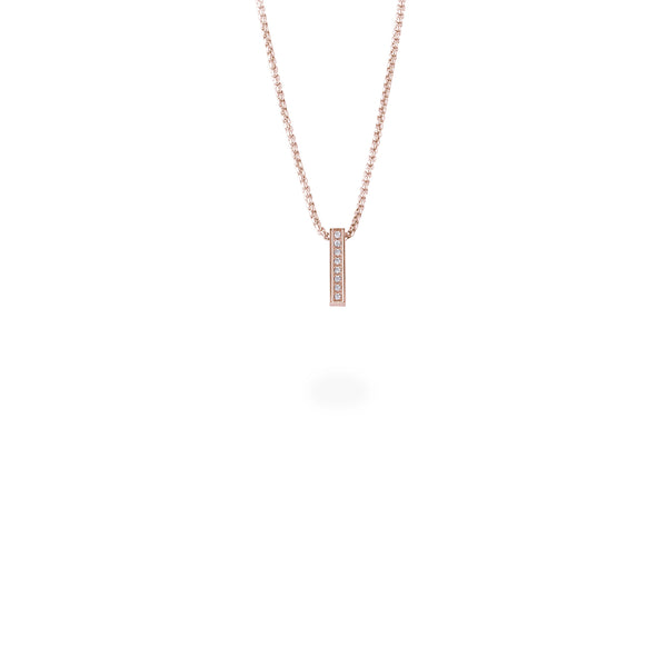 minimal bar pendant necklace with stones