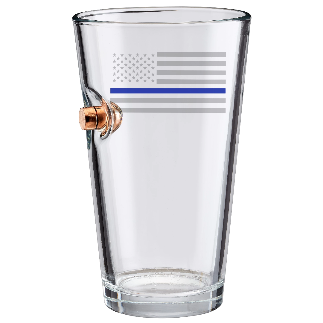 Thin Blue Line Pint Glass- 16oz
