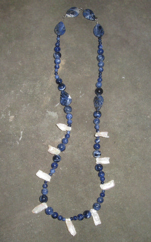 Sodalite & Pearl - Of Coins & Crystals