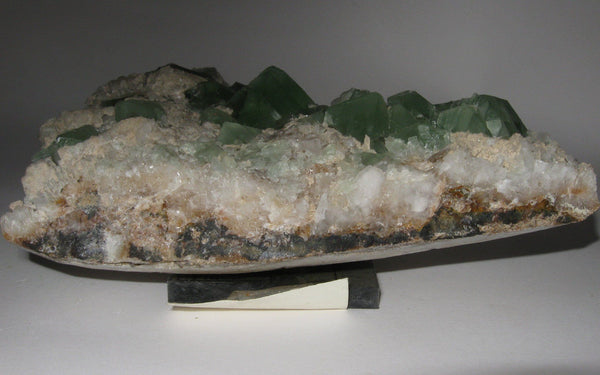 Green Fluorite in Matrix - Of Coins & Crystals